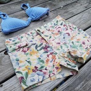 Billabong mid rise floral shorts